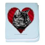 Kitty Heart baby blanket