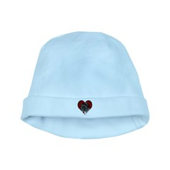 Kitty Heart baby hat