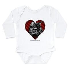 Kitty Heart Long Sleeve Infant Bodysuit