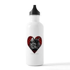 Kitty Heart Water Bottle
