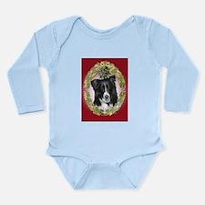 Border Collie Christmas Long Sleeve Infant Bodysui