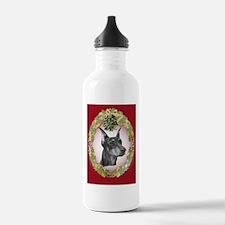 Doberman Pinscher Christmas Water Bottle