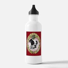 Ffrench Bulldog Mistletoe Water Bottle