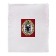 German Shepherd K9 Christmas Throw Blanket