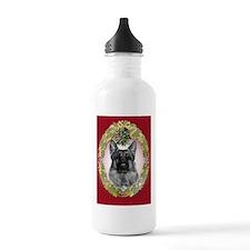 German Shepherd K9 Christmas Water Bottle