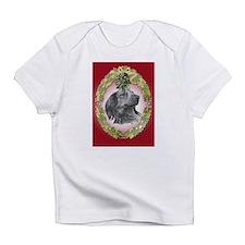 Long-Haired Dachshund Christm Infant T-Shirt