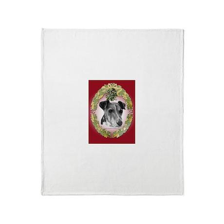 Fox Terrier Christmas Throw Blanket