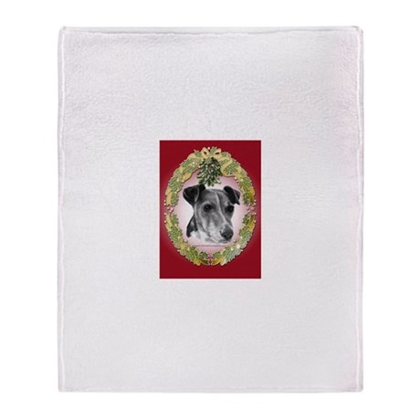 Fox Terrier Christmas Throw Blanket