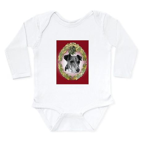 Fox Terrier Christmas Long Sleeve Infant Bodysuit