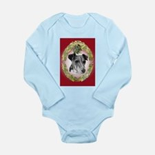 Fox Terrier Christmas Long Sleeve Infant Bodysuit