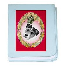 Jack Russell Terrier baby blanket