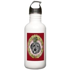 Labradoodle Christmas Water Bottle