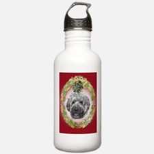 Wheaten Terrier Christmas Water Bottle