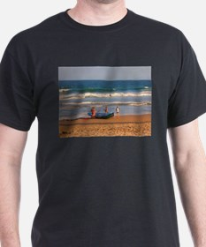 Manly Beach Surf Life Savers Black T-Shirt