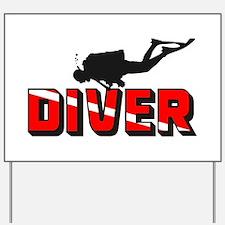 Diver Yard Sign