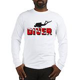 Diving Long Sleeve T-shirts