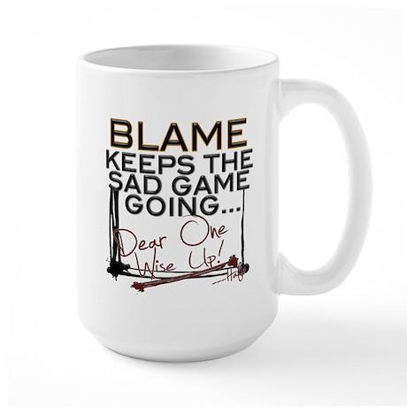 Blame Keeps Large Mug Mugs