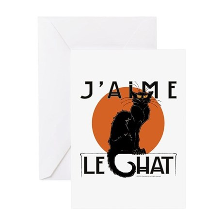 I Love Cats Greeting Card