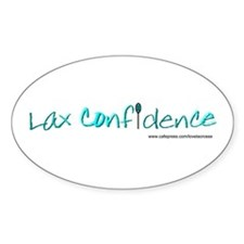 Lax Confidence Oval Decal