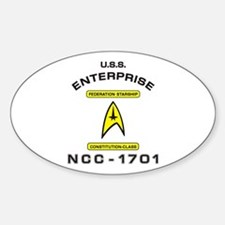 Star Trek NCC-1701 Sticker (Oval)