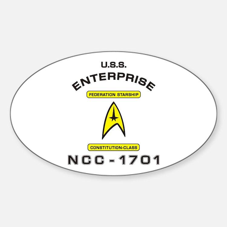 Star Trek NCC-1701 Sticker (Oval)