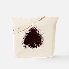 Splatter spade - red Tote Bag