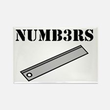 Numb3rs Rules Rectangle Magnet