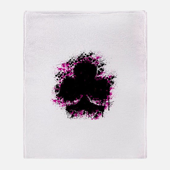 splatter club - pink Throw Blanket