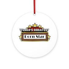 World's Greatest Porn Star Ornament (Round)