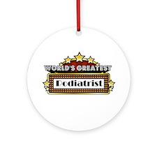World's Greatest Podiatrist Ornament (Round)