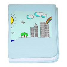 'City Scape' baby blanket