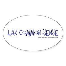 Lax Common Sense Oval Decal