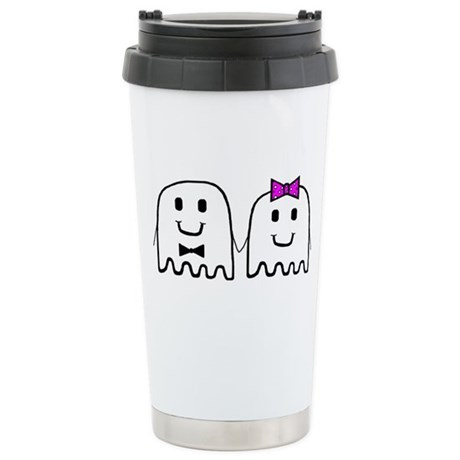 'Ghost Couple' Stainless Steel Travel Mug