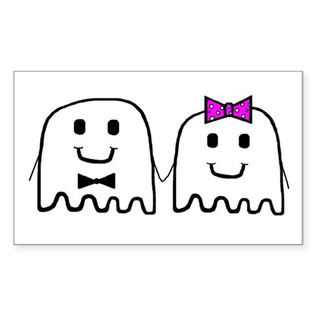 'Ghost Couple' Rectangle Sticker
