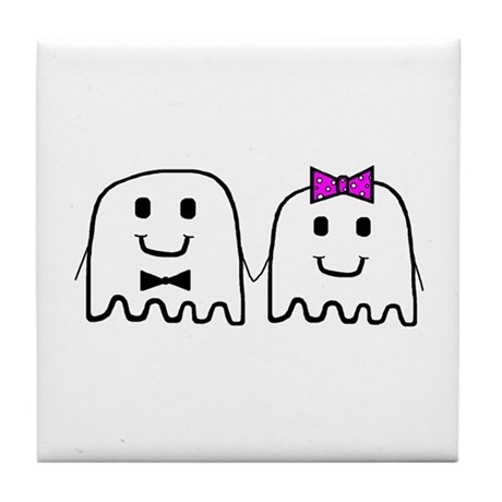 'Ghost Couple' Tile Coaster
