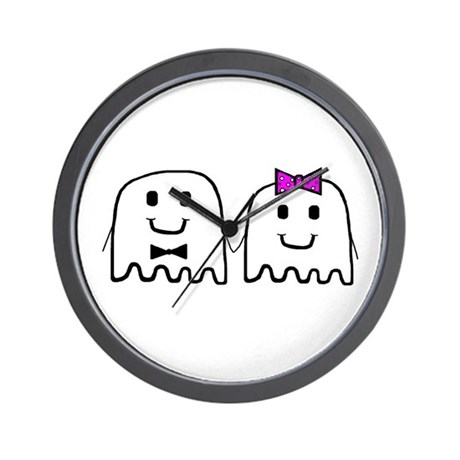 'Ghost Couple' Wall Clock