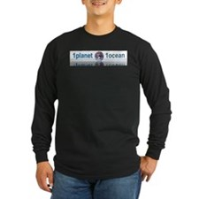 1planet1ocean Long Sleeve Dark T-Shirt