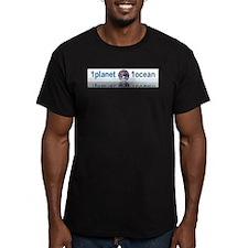 1planet1ocean Men's Fitted T-Shirt (dark)