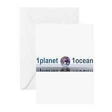 1planet1ocean Greeting Cards (Pk of 10)