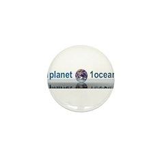 1planet1ocean Mini Button (10 pack)