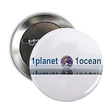 """1planet1ocean 2.25"""" Button"""
