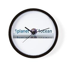 1planet1ocean Wall Clock