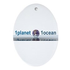 1planet1ocean Ornament (Oval)