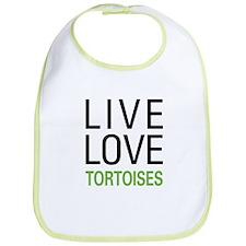 Live Love Tortoises Bib
