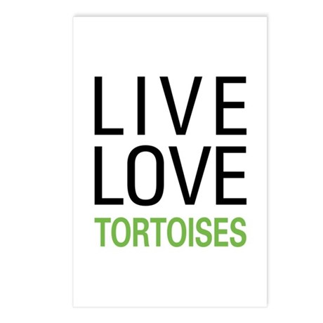 Live Love Tortoises Postcards (Package of 8)