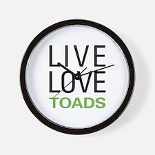 Live Love Toads Wall Clock