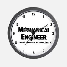 Mechanical Engineer Zombie Fighter Wall Clock