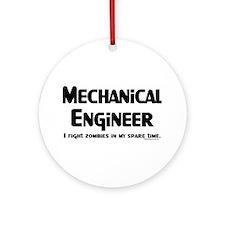 MechE Zombie Fighter Ornament (Round)
