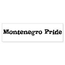 Montenegro Pride Bumper Bumper Sticker