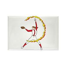 Womens Softball Pitcher Rectangle Magnet